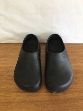 ☘️ Womens Birkenstock Profi Birkis PU Work Chef Clogs Shoes Black Size 10 41