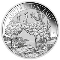 2019 Australian Emu 1oz .9999 Silver Bullion Coin - The Perth Mint