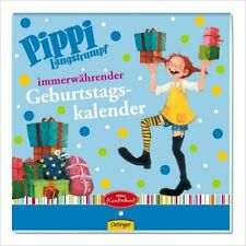 Pippi Langstrumpf - immerwährender Geburtstagskalender - NEU und OVP
