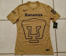 NWT Authentic NIKE Pumas Unam Mexico  GOLD Soccer Jersey Men's Medium