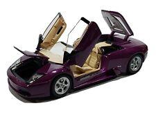 Maisto Lamborghini Murcielago Roadster Diecast Model Car 1/18 Scale Purple