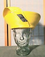 Estate Vintage Bright Yellow Straw Church Hat Easter Bonnet