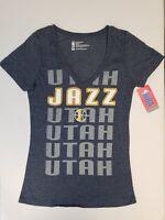 Utah Jazz Womens Short Sleeve Mesh Burnout T-Shirt | SZ Medium | NWT