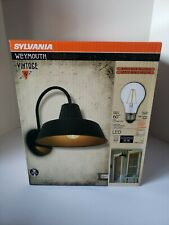 Sylvania WEYMOUTH Vintage Wall-Mount Sconce w/ A19 Bulb Matte Black Finish *NEW*