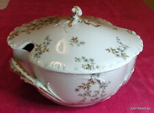 Haviland H&Co (Schleiger 464B) DEEP OVAL COVERED TUREEN Blank 9 Exc