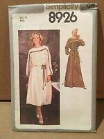 Vintage 1970s Misses' Dress Pattern Size 10 by Simplicity UnCut