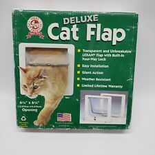 "Ideal Pet Products 6 1/4"" x 6 1/4"" Deluxe Small Cat Door Flap New Sealed White"
