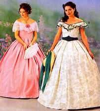 Historical Southern Belle Dress Costume Sew Pattern Size 4-10 McCall's 3597 OOP