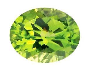 50 x Loose 10mm x 8mm Oval Cut Foil Paste Stones / Glass Green Peridot Foil back
