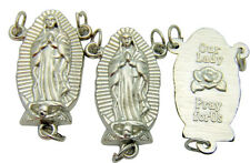 """Set of 3 Our Lady of Guadalupe Silver Plated LARGE Rosary Centerpiece Part 1"""""""