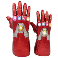 Iron Man Infinity Gauntlet Nano LED Gloves Thanos Avengers 4 Endgame Prop Toy
