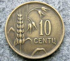 LITHUANIA 1925 10 CENTU