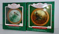 Hallmark Keepsake Christmas Ornament Lot 1985 & 1988 WILDLIFE Series 4 & 7    H5