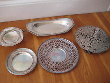 Antique SILVER PLATE LOT Lawrence LBS Co trivet Sheffield Reed Barton bowl vtg