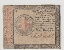 High Grade $2 Colonial Currency Continental 1779