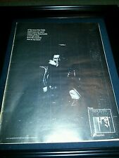 Frank Sinatra Rain In My Heart Cycles Rare Original Promo Poster Ad Framed!