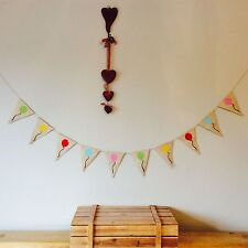 ❤️HAPPY BIRTHDAY Balloon Bunting Banner. Vintage Hessian Burlap❤️