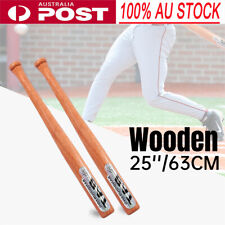 "25"" 63cm Wooden Baseball Bat Racket Outdoor Sports Defense Wood Lightweight AU"