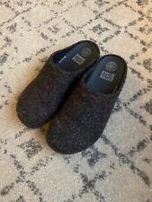 Fitflop Women's Shuv Felted Wool Clogs Mule Slip On Shoe Size 9 In Dark Gray