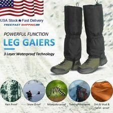 "1 Pair Outdoor Hiking Boot Gaiters Waterproof Leg Legging Cover Climbing 16"" USA"