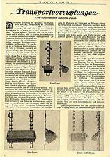 Transportvorrichtungen Ketten- Elevator Transportschnecken Fahrbarer Sack...1924