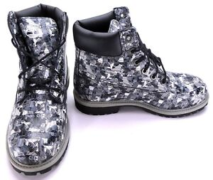 Timberland Shoes 6 Inch Premium Classic Army Camo Black Boots Men 5.5 Womens 7.5