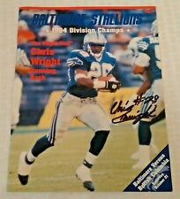 Autographed Signed CHRIS WRIGHT Baltimore Stallions 1995 Program CFL Rare 1/1?