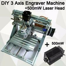 DIY 3 Axis Engraver Machine Milling Wood Carving Engraving + 500MW Laser Module