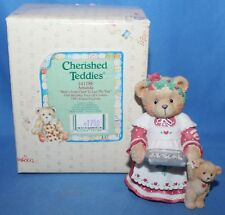 "Cherished Teddies Amanda ""Here's Some Cheer to Last."" Figurine #141186 1995"