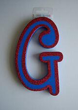 Carta De Espuma Azul G Brillo Rojo Dormitorio Adhesivo inicial decorativa