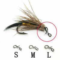 50100pc Fliegenfischen Snap Quick Change für Haken Ho Fishing Outdoor Lockt J1Z0