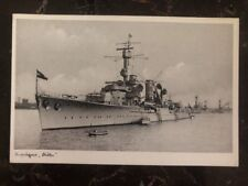 Mint WW2 RPPC Postcard Germany Königsberg Kriegsmarine Light cruiser B