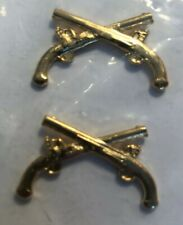 Usma Army West Point Mp'S - Military Police Crossed Pistols Lapel Pin - (2) Pins