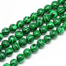 Synthetic Malachite Loose Beads 6mm Round