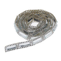 1 yard cristal strass ruban garniture maille wrap bricolage couture coupe argent