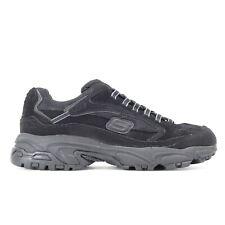 New Skechers Stamina Mens Black Memory Foam Athletic Running Shoes US 10.5 EU 44