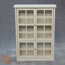 1/12 Dollhouse Miniature Furniture Wooden White Bookcase Shelving Cabinet C015
