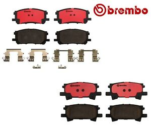 For Lexus RX330 RX350 RX400h Front and Rear NAO Ceramic Brake Pads Kit Brembo
