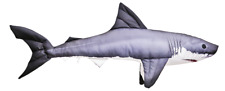 Great White Shark 53cm/21inch! Giant Jaws. GABY SOFT TOY FISH PILLOW. Free P&P!