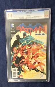 BATMAN #38 CGC 9.8 DC COMICS 3/15 FLASH ANNIVERSARY COVER SYNDER CAPULLO NEW 52