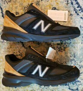 W/Box New Balance 990v5 Black Gold UNRELEASED Sz 10.5 Running Shoes M990BB15