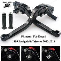 Motorcycle CNC Foldable Brake Clutch Lever And Grip For Buell Ulysses XB12X 2009