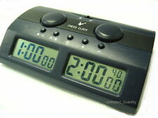 DIGITAL CHESS CLOCK COUNTDOWN+ BONUS+ BRONSTEIN ELECTRONIC GAME TIMER BOARD SET