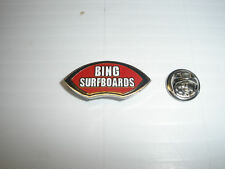 BING NOSERIDER SURF SURFING SURFER SURFBOARD LONG BOARD BEACH FIN LAPEL PIN