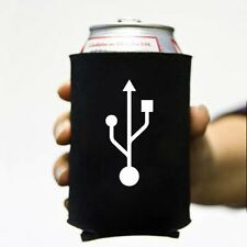 USB Koozie Can Computer Koolie Cooler Insulator Geek Nerd Hacker Beer Soda Funny