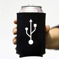 USB Koozie Can Computer Koolie Cooler Insulator Geek Nerd Hacker Beer Soda Funny