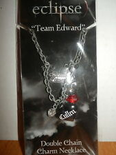 TWILIGHT ECLIPSE TEAM EDWARD DOUBLE CHAIN CHARM NECKLACE