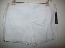 Larry Levine Stretch Women's White Shorts Size 14 NWT
