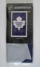 "Toronto Maple Leafs NHL Hockey 28"" x 44"" Nylon SEWN Applique House Flag"