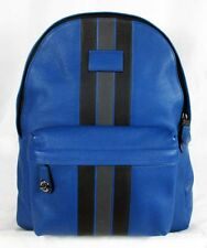 COACH CAMPUS Varsity Stripe Pebble Leather LG Backpack Msrp $550.00